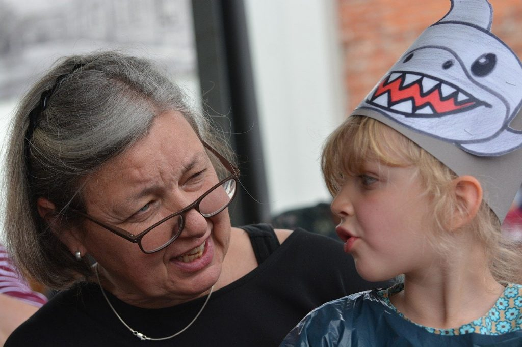 Granny bonding with grand daughter under Questions to ask your grandparents